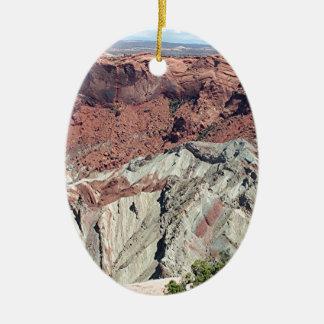 Parque nacional de Canyonlands, Utah, sudoeste los Adorno Navideño Ovalado De Cerámica