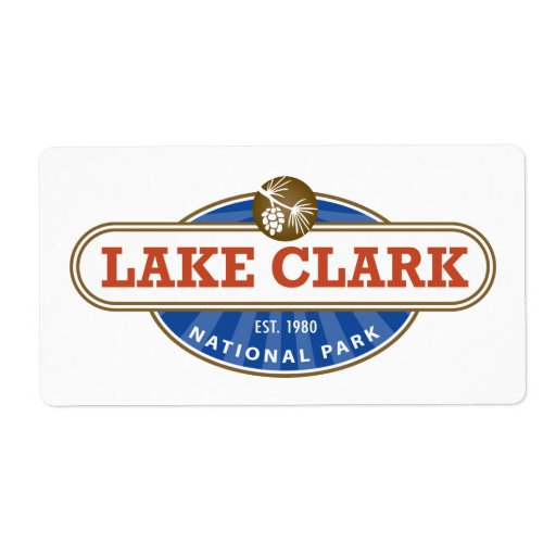 Parque nacional de Clark del lago Etiquetas De Envío