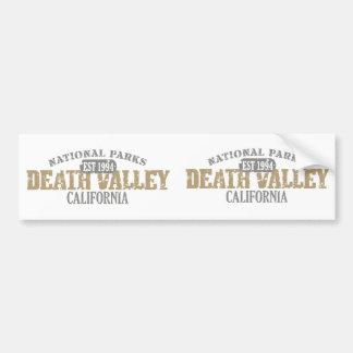Parque nacional de Death Valley Pegatina De Parachoque