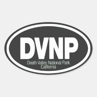 Parque nacional de Death Valley Pegatina Ovalada