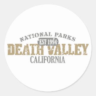 Parque nacional de Death Valley Etiquetas Redondas