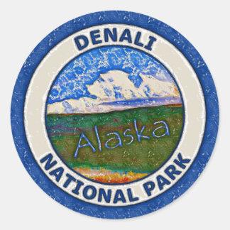 Parque nacional de Denali, Alaska Pegatina Redonda