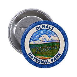 Parque nacional de Denali, Alaska Pin Redondo 5 Cm