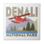 Parque nacional de Denali Azulejo Cuadrado Pequeño