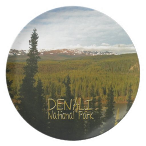 Parque nacional de Denali en Alaska Plato Para Fiesta