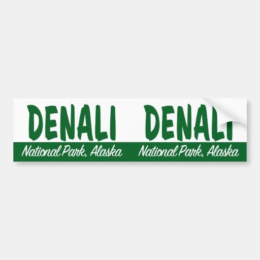 Parque nacional de Denali Pegatina De Parachoque