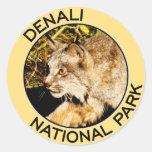 Parque nacional de Denali Pegatina Redonda