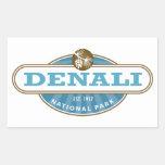 Parque nacional de Denali Rectangular Pegatina
