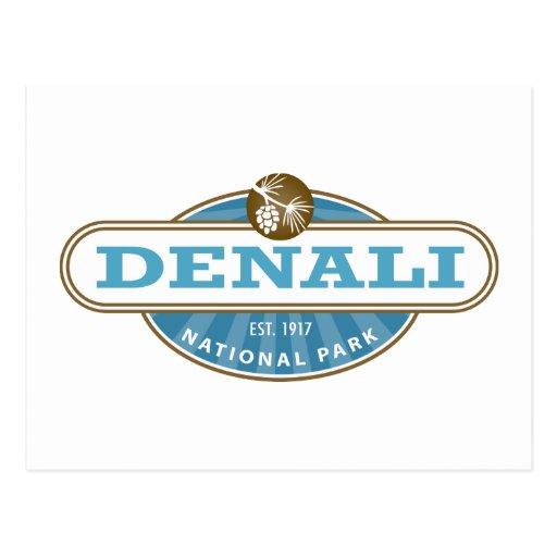 Parque nacional de Denali Tarjeta Postal