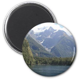 Parque nacional de Fiordland, Nueva Zelanda Imán Redondo 5 Cm