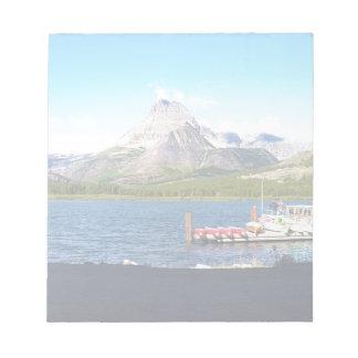 Parque nacional de Glaicer mucho glaciar Bloc De Papel