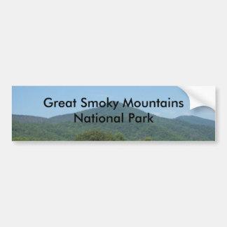Parque nacional de Great Smoky Mountains Pegatina De Parachoque