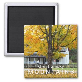 Parque nacional de Great Smoky Mountains de la cas Imán Cuadrado