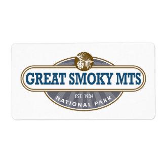 Parque nacional de Great Smoky Mountains Etiquetas De Envío