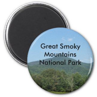 Parque nacional de Great Smoky Mountains Imán Redondo 5 Cm
