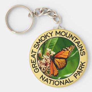 Parque nacional de Great Smoky Mountains Llavero Redondo Tipo Pin