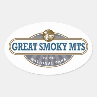 Parque nacional de Great Smoky Mountains Pegatina Ovalada