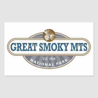 Parque nacional de Great Smoky Mountains Pegatina Rectangular