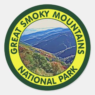 Parque nacional de Great Smoky Mountains Pegatina Redonda