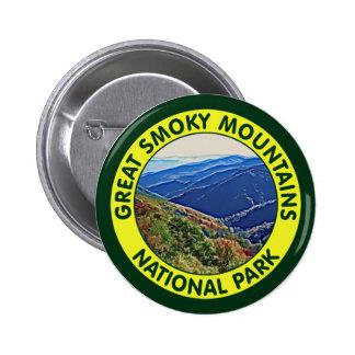 Parque nacional de Great Smoky Mountains Pin Redondo 5 Cm
