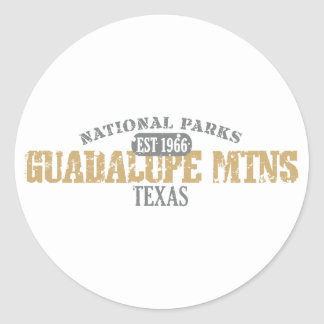 Parque nacional de Guadalupe Mtns Pegatina Redonda