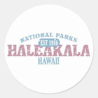 Parque nacional de Haleakala Pegatina Redonda