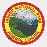 Parque nacional de jaspe, Alberta, Canadá Pegatina Redonda