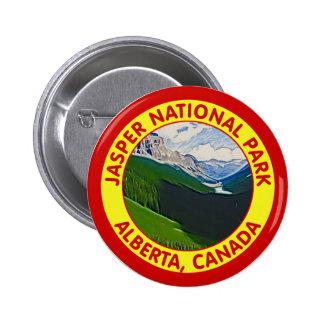 Parque nacional de jaspe, Alberta, Canadá Pin Redondo 5 Cm