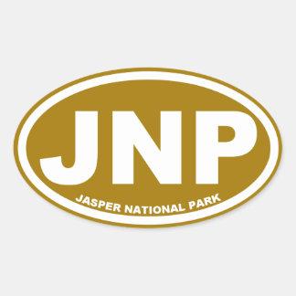 Parque nacional de jaspe pegatina ovalada