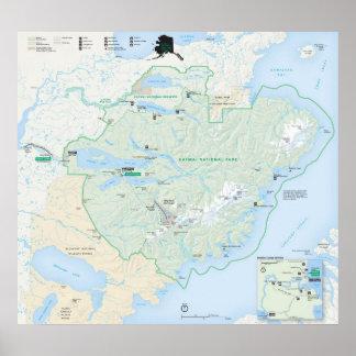 Parque nacional de Katmai Póster