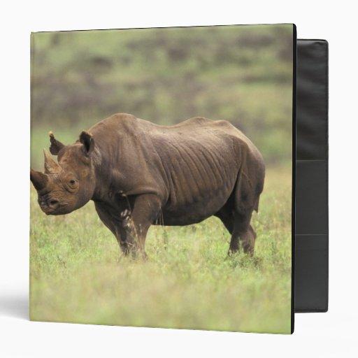 "Parque nacional de Kenia, Nairobi. Rinoceronte neg Carpeta 1 1/2"""