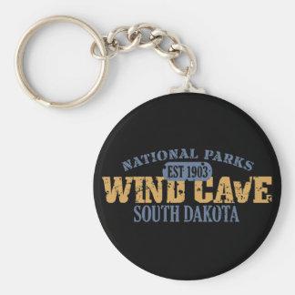 Parque nacional de la cueva del viento llavero personalizado