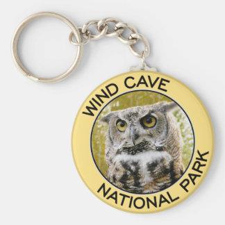 Parque nacional de la cueva del viento llavero redondo tipo pin