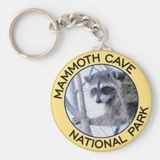Parque nacional de la cueva gigantesca llavero redondo tipo pin