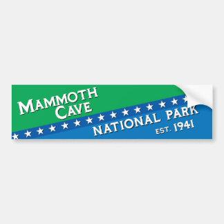 Parque nacional de la cueva gigantesca pegatina para auto