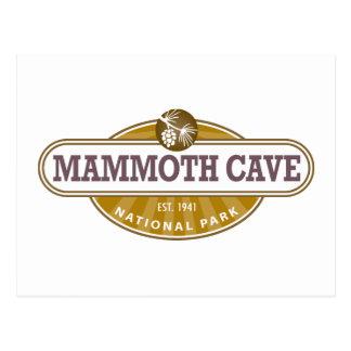 Parque nacional de la cueva gigantesca tarjetas postales