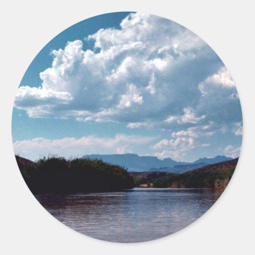 Parque nacional de la curva grande del Rio Grande Etiqueta Redonda