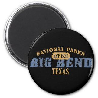 Parque nacional de la curva grande imán redondo 5 cm