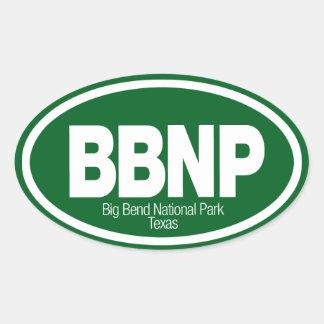 Parque nacional de la curva grande pegatina ovalada