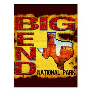 Parque nacional de la curva grande postal