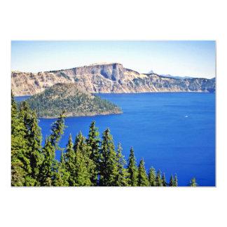 """Parque nacional de la isla del mago - lago crater invitación 5"""" x 7"""""""