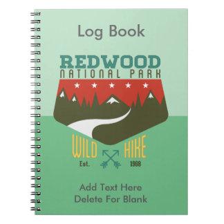 Parque nacional de la secoya spiral notebooks