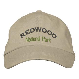 Parque nacional de la secoya gorras de beisbol bordadas