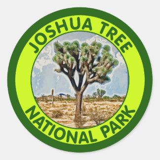 Parque nacional de la yuca, California Pegatinas Redondas