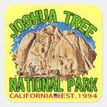 Parque nacional de la yuca, California Calcomanías Cuadradass Personalizadas