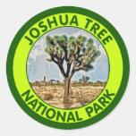 Parque nacional de la yuca, California Pegatina Redonda