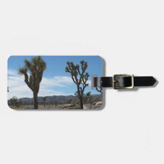 Parque nacional de la yuca etiqueta para maleta