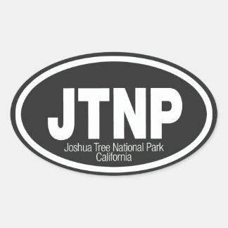 Parque nacional de la yuca pegatinas ovaladas