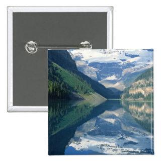 Parque nacional de Lake Louise, Banff, Alberta, Pin Cuadrada 5 Cm