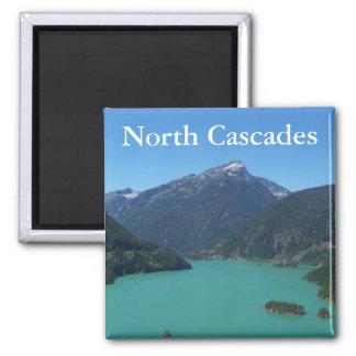 Parque nacional de las cascadas del norte imán cuadrado